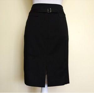 Flash sale EXPRESS black buckle slit pencil skirt